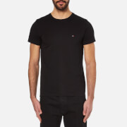 Tommy Hilfiger Men's New Stretch Crew Neck T-Shirt - Flag Black