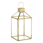Parlane Clara Glass Lantern - Gold (27 x 14cm)