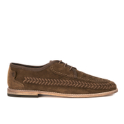 H Shoes by Hudson Mens Anfa Suede Lace Up Weave Shoes  Tobacco  UK 10
