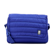 Crosshatch Ridger Quilted Messenger Bag  Sodalite Blue