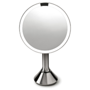 simplehuman Rechargeable Stainless Steel Sensor Mirror - 5x Magnification 20cm