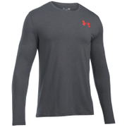 Under Armour Men's Vertical Wordmark Long Sleeve Shirt - Carbon Heather