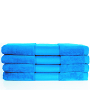 Aura.Via 100% Cotton 4 Pack Bath Towels - Teal