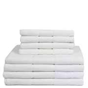 Restmor 100% Cotton 8 Piece Towel Bale Set - White