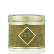 Stockholm Inspired Luxury Large Tin Candle - Oak and Bergamot