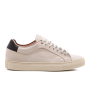 PS by Paul Smith Men's Basso Leather Court Trainers - Quiet White