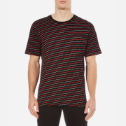 rag & bone Men's Colin Striped T-Shirt - Black/Red