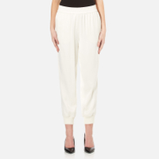 DKNY Womens Joggers with Ribbed Cuffs  Gesso  L