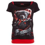 Haut Femme Ted The Impaler Spiral - Noir / Rouge