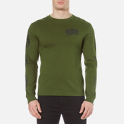 Billionaire Boys Club Men's Helmet Print Long Sleeve T-Shirt - Olive