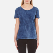 Maison Scotch Women's Home Alone Loose Crew Neck T-Shirt - Indigo