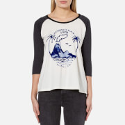 Maison Scotch Women's 3/4 Sleeve A Line T-Shirt with Artwork - Combo C