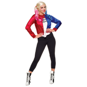 DC Comics Women's Harley Quinn Fancy Dress Costume Kit