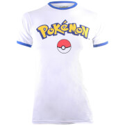 Pokemon Men's Logo T-Shirt - White/Blue