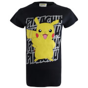 Pokemon Women's Pikachu Victory T-Shirt - Black