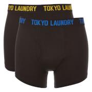 Lot de 2 Boxers Pellipar Tokyo Laundry - Noir / Bleu / Jaune