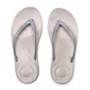 FitFlop Women's Iqushion Ergonomic Flip Flops - Glitter Silver