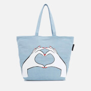 Lulu Guinness Women's Luisa Heart Hands Denim Tote Bag - Denim