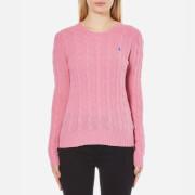 Polo Ralph Lauren Womens Julianna Crew Neck Jumper Cashmere Blend  Wesley Pink Heather  M