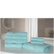 Highams 100% Egyptian Cotton 7 Piece Towel Bale (500gsm) - Aqua Blue