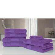 Highams 100% Egyptian Cotton 7 Piece Towel Bale - Purple
