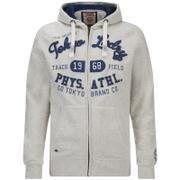 Tokyo Laundry Men's Mantua Bay Zip Through Hoody - Oatgrey Marl