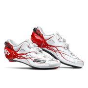 Image of Sidi Shot Carbon Cycling Shoes - White/Red - EU 47