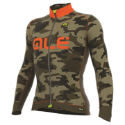 Alé PRR Dolomiti Long Sleeve Camo Jersey - Black/Orange