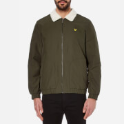 Lyle & Scott Men's Shearling Lined Bomber Jacket - Dark Sage