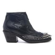 McQ Alexander McQueen Womens Solstice Zip Leather Ankle Boots  Black  UK 6