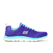 Skechers Women's Flex Appeal Obvious Choice Low Top Trainers - Purple/Light Blue