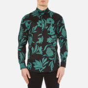 AMI Men's Flowers Printed Jersey Shirt - Black/Green