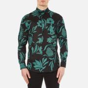 AMI Men's Flowers Printed Jersey Shirt - Black/Green