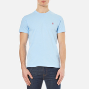AMI Mens Heart Logo TShirt  Sky Blue  XL