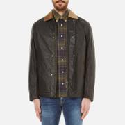Barbour X Steve McQueen Mens Tread Wax Jacket  Olive  L