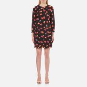 Boutique Moschino Women's Heart Print Shift Dress - Black