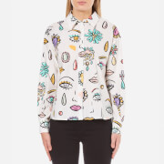 Boutique Moschino Women's Eye Print Shirt - White