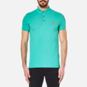 BOSS Orange Mens Pavlik Polo Shirt  Turquoise  S