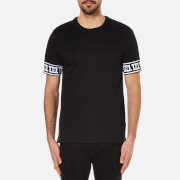 Versace Collection Men's Greek Patterned T-Shirt - Black