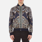 Versace Collection Men's Printed Reversible Bomber Jacket - Navy