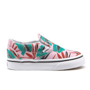 Vans Toddlers' Classic Tropical Leaves Slip-On Trainers - Pink Lady