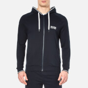 BOSS Hugo Boss Mens Zipped Hooded Sweatshirt  Navy  S
