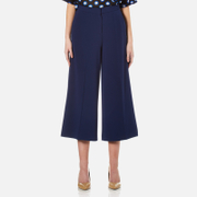 Boutique Moschino Women's Wide Leg Culottes - Navy - EU 42/UK 10 - Blue