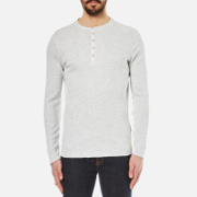 Selected Homme Men's Halex Long Sleeve Henley Top - Snow White