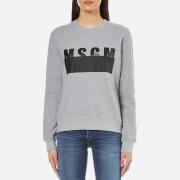 MSGM Women's Printed Sweatshirt - Grey