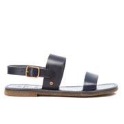 H Shoes by Hudson Women's Maiara Leather Two Part Sandals - Navy