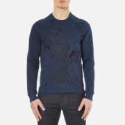 Versace Jeans Men's Lion Printed Sweatshirt - Blue