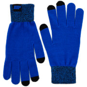 Knitted Gloves – Blue - L/XL - Bleu