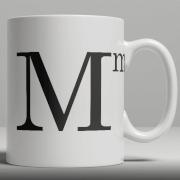 Alphabet Keramik Designer Tasse - Buchstabe M