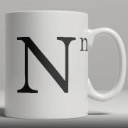 Alphabet Ceramic Mug - Letter N image